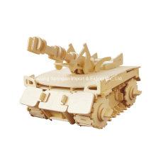 Boutique Farblose Holz Spielzeug Fahrzeuge-Tank