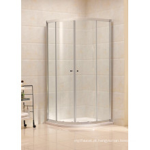 Vidro temperado Frame de alumínio deslizante Corner Shower Cubicle (B11)