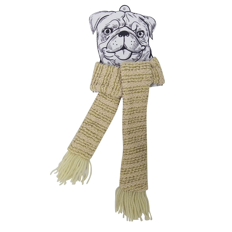 Christmas pet knit scarf yellow A