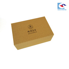 sencai highly quality gold color cosmetic cardboard paper box divide with foam gift box