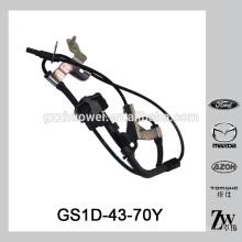 Sensor original de ABS de roda de carro de qualidade para sensor de velocidade de roda de venda para Mazda 6 / Chevrolet OEM.GS1D-43-70Y