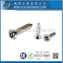 Taiwán Acero inoxidable 18-8 Acero cromado Acero niquelado Cobre Latón Estándar Taptite C Tite S Tite Tornillo de conformado