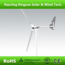 2015 Las nuevas láminas vendedoras calientes del generador de viento 3000W del modelo 3000 con la cola giraron la protección del freno, CE aprobaron + 3 años de garantía