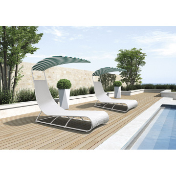 Outdoor New & Leisure Design Lettino prendisole in rattan