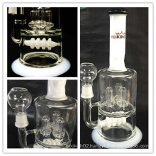 Enjoylife Top Selling Glass Water Pipe Inline Perc Smoking Pipe for 420 /710 Oil Rig Smoking Pipe Wholesale