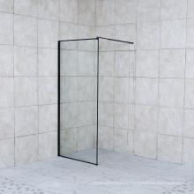 Frameless Clear Tempered Glass Black Profile Walk in Shower Screen Shower Door