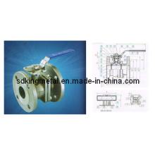 800wog Aço inoxidável 316 2PC flangeou a válvula de esfera (DIN)