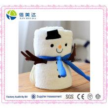 Best Gift for Children Christmas Coral Fleece Snowman Blanket
