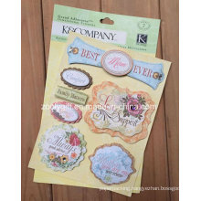 Adhesive 3D Scrapbooking Handmade Paper Die-Cut Craft Glitter Dimensional Stickers