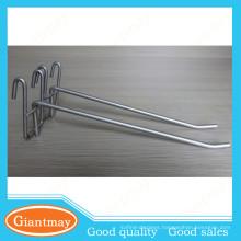light duty silver coated single metal wire display hook
