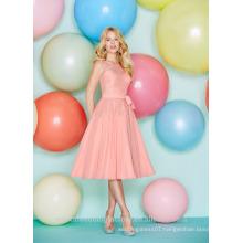 Wholesale Good Quality New Cheap Lace Chiffon Short A Line Bridesmaid Dresses LBS02