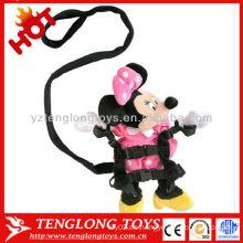 Mini muñeca encantadora segura segura de la felpa del ratón de la alta calidad con la correa que camina del bebé