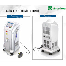 Le CE médical a approuvé le laser de diode 808 / 810nm pour l'équipement de beauté d'épilation