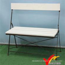 Back design dobrável vintage ao ar livre parque jardim bancada cadeira
