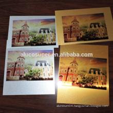 Golden or Silver Brushed Blank Sublimation Aluminum Sheet