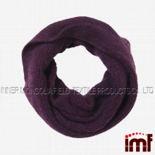 Women Solid 100% Pure Cashmere Infinity Circle Loop Scarf
