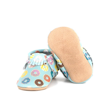 Sweat Donuts Pattern Mocasines Soft Baby Shoes