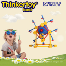 Геометрическая красочная жесткая пластиковая крытая деформированная игрушка