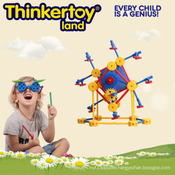 Geometric Colorful Hard Plastic Indoor Deformed Toy