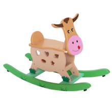 Wooden Calf Rocking Horse Riding Toys
