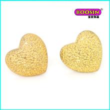 Boucle d'oreille en or de coeur de mode de gros fait sur commande de haute qualité