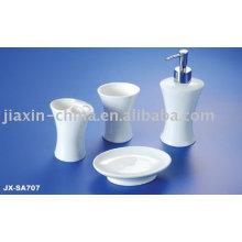 Ensemble d'accessoires de salle de bains en porcelaine JX-SA707
