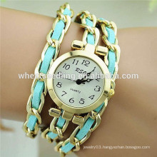 2015 new alloy chain with rope lady watch bracelet