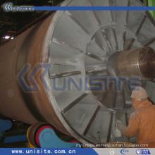 Cañón de acero mecanizado para draga (USC-10-006)