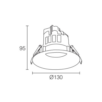 Aluminnum Warmweiß 15W LED Downlight