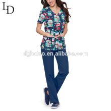 Ladies design medical wear nurse uniform for women