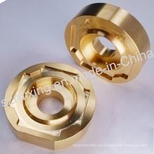 Pieza de mecanizado CNC de latón para componentes industriales
