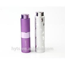 Nuevo atomizador recargable del perfume de la torcedura de aluminio del estilo 8ml