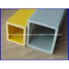 Tube carré FRP / fibre de verre résistant aux rayons UV pour structure
