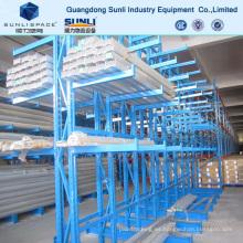 Estante de plataforma voladiza de almacenamiento de carga larga de Warehouse