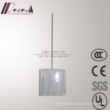 Simple Hotel Decorative White Fabric Shade Square Pendant Lamp