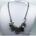 Alloy Beads Parts Chain Necklace (XJW13784)