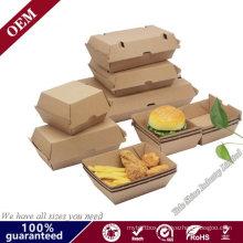Micro Flute Brown Food Packaging Paper Cardboard Burger Box