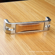B Style 128mm Pitch Tea Colour Crystal Hardware Cabinet Handle