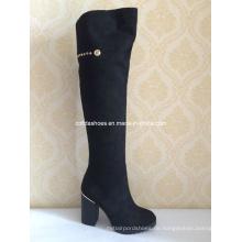 Mode Damen High Heels Winter Lange Stiefel