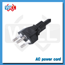 Certified cheap 125V 250V 3 prongs brazil power plug