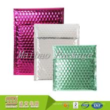 L'emballage métallique décoratif adapté aux besoins du client léger de cachetage d'individu enveloppe la bulle Glamour