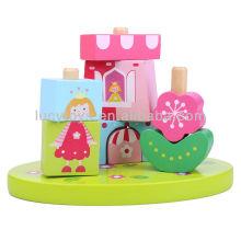 Princess & Castle Blocks on Pillar Juguete educativo