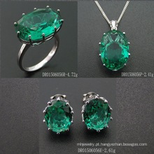 Single Stone Fashion Green Spinel Jewellery Set