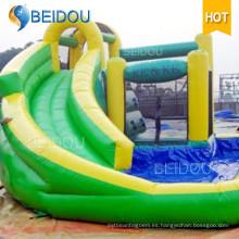 Fábrica de encargo al aire libre de encargo gigante inflable de adultos de agua de la diapositiva