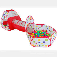 3pc Pop Up Children Play Tent 1 Crawl Tunnel 1 ball pit - Kids Tents for Boys, Girls, Babies & Toddlers for Indoor & Outdoor