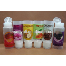 labeling transparent plastic cosmetic tubes packaging