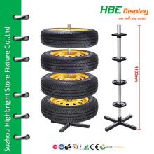 4-tire customized display shelf tyre storage rack