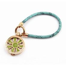 Модный кожаный браслет с Locket Charm