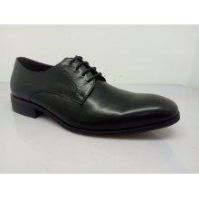 Classic Mens Lace Leather Shoes Black (NX 545)