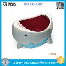 Wholesale Cute Shark Attack Ceramic Bowl